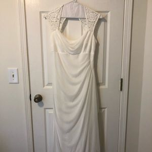 David's Bridal Long Wedding Dress